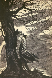 Wuthering Heights (Heathcliff beating his head to bloodiness against a tree. It is violent, you have been warned) image by Fritz Eikenberg {link to https://www.flickr.com/photos/76982768@N00/3279787412}